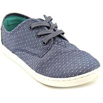 Tom's Youth Paseo Blue Chambray Polka Dot 4