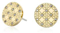 Michael Kors Gold-Tone Etched Stud Earrings
