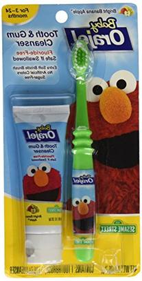 Orajel Baby Elmo Tooth and Gum Cleanser with Toothbrush,