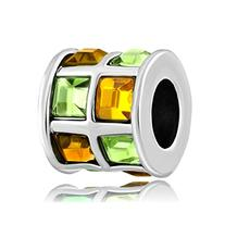 LovelyJewelry Topaz Yellow Green Swarovski Elements Crystal