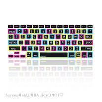 "TopCase Candy Black Keyboard Cover Skin for Macbook 13"""
