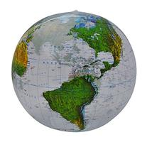 "Jet Creations Topographic Globe, 16"" L x 16"" W"