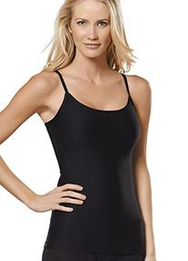 Jockey Women's Tops Slimmers Hidden Panel Cami, black, M