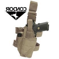 Condor Tornado Tactical Pistol Leg Pistol Holster Tan NEW