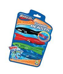 Bansai Torpedo Beasts Pool Dive Toy - Red/Black/Blue/Green