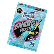 4C Totally Light 2Go Energy Rush Berry Drink Mix, 14ct