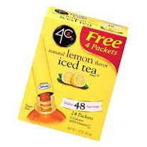 4C Totally Light Tea 2 Go Energy Rush, Half & Half, Iced Tea