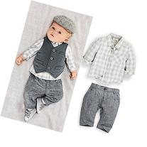 Touchme New Newborn Baby Boy Grey Waistcoat + Pants + Shirts