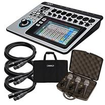QSC TouchMix-8 Compact Digital Mixer STAGE KIT w/ Mic 3 Pack