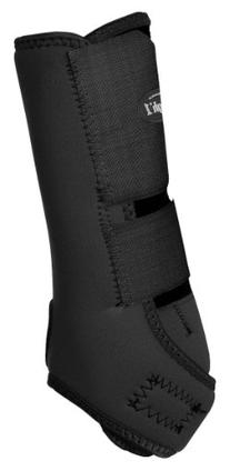 Tough-1 Black Economy Rear Leg Vented Sport Boots - Set of 2