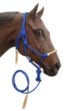 Tough 1 Tough-1 Rawhide Noseband Rope Halter with Lead,