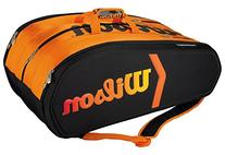 Wilson Tour Molded 15 Pack Tennis Bag Black and Orange