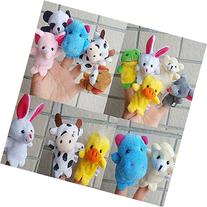 Baby Toy, Hatop 10pcs Animal Finger Puppet Plush Child Baby