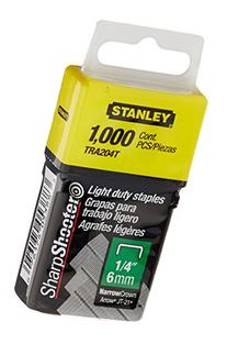 Stanley Tra204T 1/4 Inch Light Duty Narrow Crown Staples,