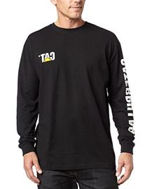 Caterpillar Men's Trademark Banner Long-Sleeve T-Shirt,Dark