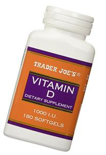 Trader Joe's Vitamin D-3 1000iu, 180softgels