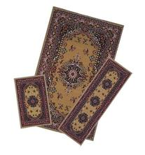 Traditional Oriental Floral Area Rug Set - 3 PC SET ! 5 feet