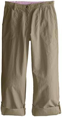 White Sierra Girls Trail Roll-Up Pant, Bark, Small