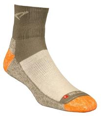 Trail Run 1/4 Crew High Socks, Black/Orange, Small