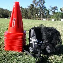 Uber Soccer Orange Cone Marker - Collapsible - Set of 20
