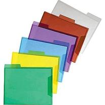 Staples Translucent Poly File Folders, Assorted, 6/Pack