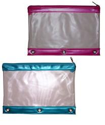 Inkology Transparent Binder Pencil Pouch, Color May Vary