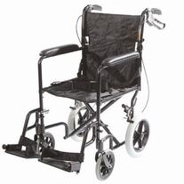 Roscoe Medical Transport Chair with 12-inch Rear Wheels and