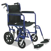 """Medline MDS808210AB Aluminum Transport Chair with 12"""" Wheels"""