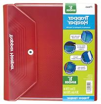 Mead Trapper Keeper 1.5 Inch Binder, 3 Ring Binder, Red
