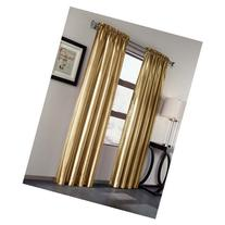 Treasure Faux Silk Curtain Panel, Set of 2