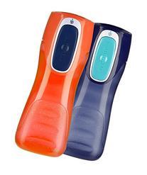 Contigo Kids Trekker Water Bottle, Navy, Nectarine, 2 ea