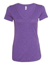Next Level Apparel 6740 Lady Tri-Blend Deep V Neck T-Shirt