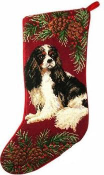 Tri-Color Cavalier King Charles Spaniel Dog Needlepoint