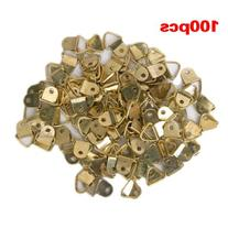 100Pcs Small Triangle D-Ring Picture Frame Hangers Single