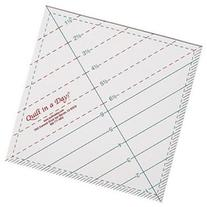 Quilt In A Day Triangle Square Up Ruler-6-1/2X6-1/2