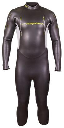 NeoSport Men's Triathlon Full Suit, Black/Yellow, Medium -
