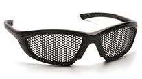 Pyramex Safety Trifecta Eyewear, Black Frame, Punched Steel