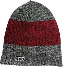 neff Men's Trio Beanie, Black/Maroon/Charcoal, One Size