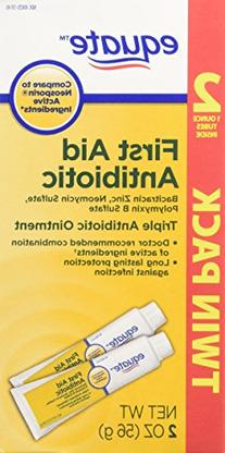 Equate Triple Antibiotic First Aid Ointment, 1 oz. Twin Pack