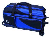 BSI Triple Ball Roller Bowling Bag, Black/Blue