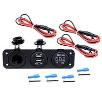 Astra Depot Triple Function Dual USB Charger + Voltmeter +
