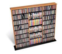 Triple Media Tower, holds 960 CDs Oak