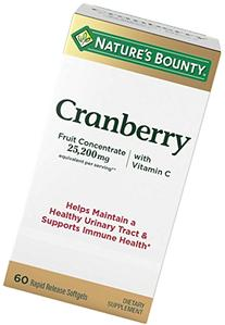 Nature's Bounty Triple Strength Cranberry with Vitamin C, 25