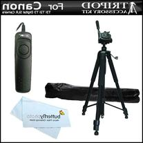 Professional 72 Inch. Camera Tripod + RS60 Remote Switch For