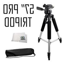 Professional 57-inch Tripod 3-way Panhead Tilt Motion with