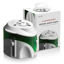 Tripshell International All-in-One Travel Plug Adapter With