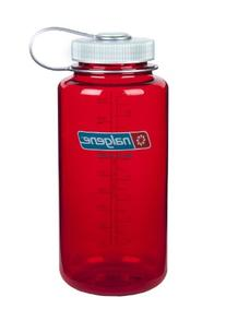 Nalgene Tritan Wide Mouth BPA-Free Water Bottle, Red w/