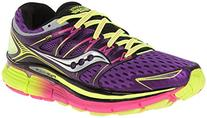 Saucony Women's Triumph ISO Running Shoe, Purple/Citron/Pink