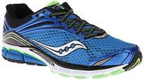 Saucony Men's Triumph 11 Running Shoe,Blue/Black/Slime,11 M