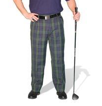 Plaid Golf Trousers - Mens 'Par 5' Black Watch Cotton - 30